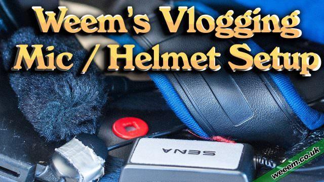 Weeems Vlogging Mic & Helmet Setup