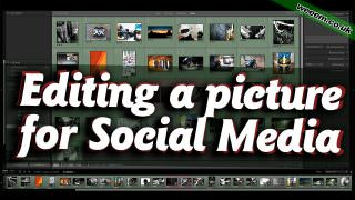 Editing a picture for Social Media