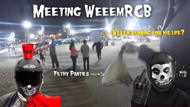 ArsonRides: Meeting WeeemRCB – Chasing him with Batman's Dirty Panties